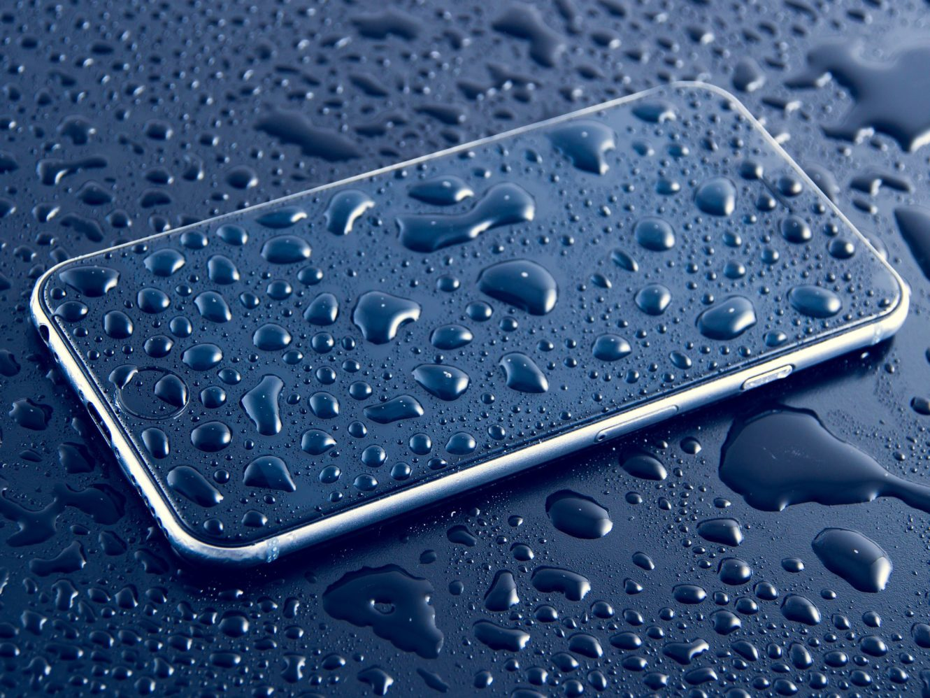 iPhone in rain